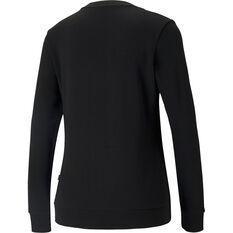 Puma Womens Essentials Metallic Big Logo Sweatshirt, Black, rebel_hi-res
