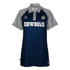 North Queensland Cowboys 2021 Womens Polo Navy XS, Navy, rebel_hi-res