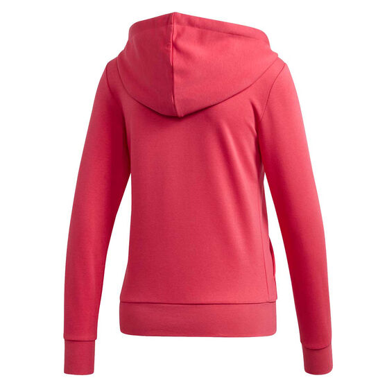 adidas Womens Essentials Linear Full Zip Hoodie Pink XS, Pink, rebel_hi-res