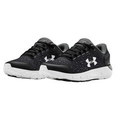 Under Armour Charged Rogue 2 Kids Running Shoes, Black/White, rebel_hi-res