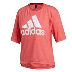 adidas Womens Must Haves Badge of Sport Graphic Tee Red XS, Red, rebel_hi-res