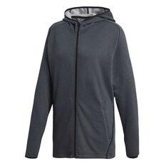 adidas Mens FreeLift Prime Hoodie Grey / Black S, Grey / Black, rebel_hi-res