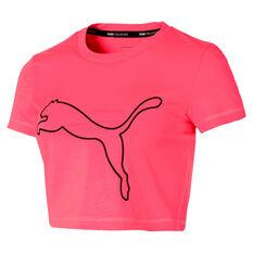 Puma Womens Baby Crop Tee Pink XS, Pink, rebel_hi-res