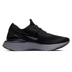 Nike Epic React Flyknit 2 Womens Running Shoes Black / White US 6, Black / White, rebel_hi-res