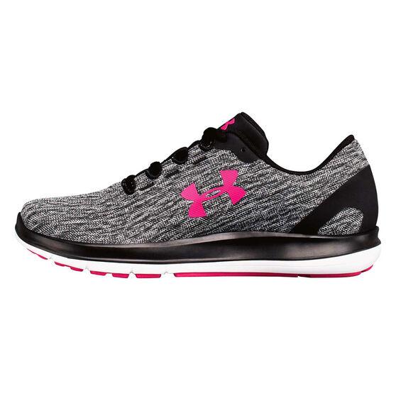 Under Armour Womens Remix Running Shoes, Grey / Black, rebel_hi-res