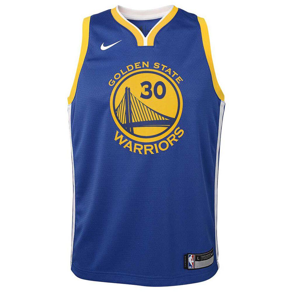 Nike Golden State Warriors Stephen Curry 2018 Kids Swingman Jersey Rush  Blue XL b47a35a4f