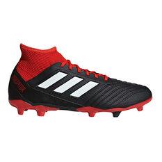 adidas Predator 18.3 Mens Football Boots Black / White US 7, Black / White, rebel_hi-res