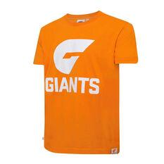 GSW Giants Mens Supporter Logo Tee Orange S, Orange, rebel_hi-res