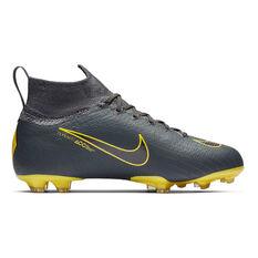 Nike Mercurial Superfly 6 Elite Kids Football Boots Grey / Black US 4, Grey / Black, rebel_hi-res
