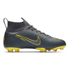 ... Nike Mercurial Superfly 6 Elite Kids Football Boots Grey   Black US 4 a48b57fdf5f