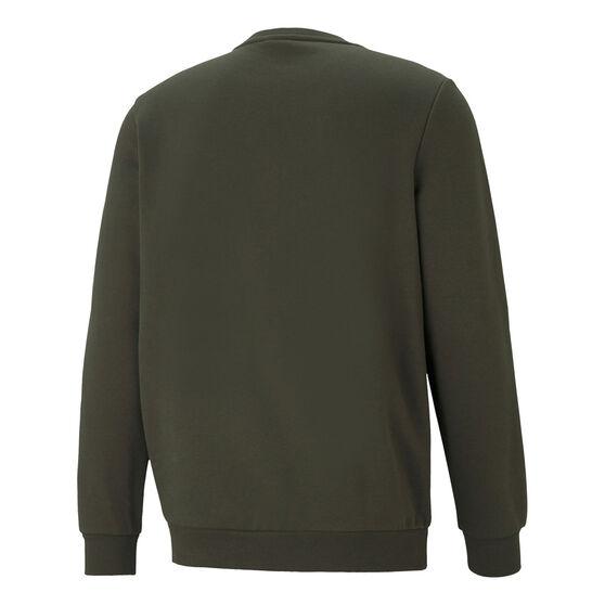 Puma Mens Essential Big Logo Crew Sweatshirt, Green, rebel_hi-res