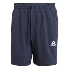 adidas Mens AEROREADY Essentials Chelsea Small Logo Shorts Navy XS, Navy, rebel_hi-res