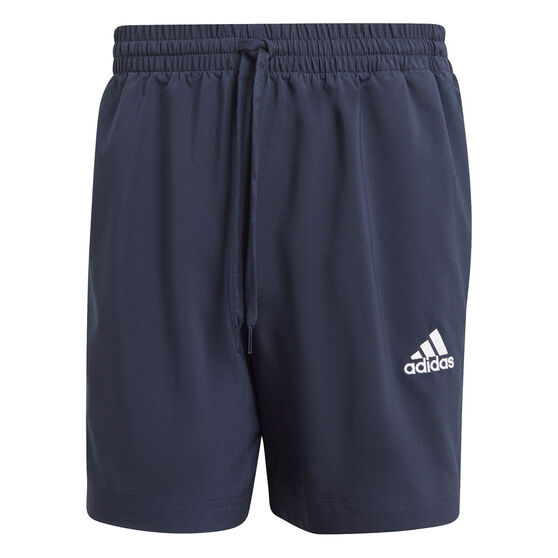 adidas Mens AEROREADY Essentials Chelsea Small Logo Shorts, Navy, rebel_hi-res