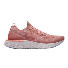 Nike Epic React Flyknit Womens Running Shoes Pink / White US 6, Pink / White, rebel_hi-res