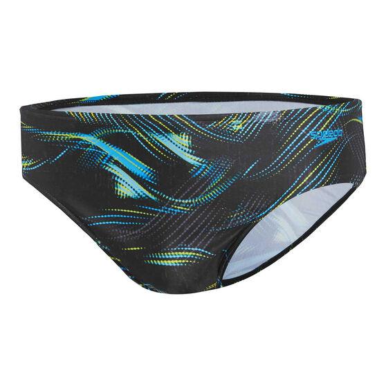 Speedo Mens Leisure Current Swim Briefs, Black, rebel_hi-res