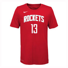 Nike Houston Rockets James Harden 2019/20 Kids Icon Edition Tee Red S, Red, rebel_hi-res