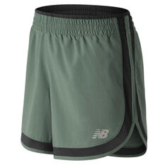 New Balance Printed Accelerate 5 In Running Shorts Green XS, Green, rebel_hi-res