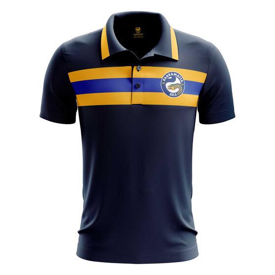 Parramatta Eels 2019 Mens Advantage Polo, Black, rebel_hi-res