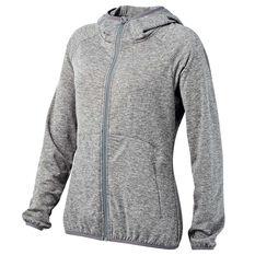 Tahwalhi Womens Glide Full Zip Hoodie Grey 8, Grey, rebel_hi-res
