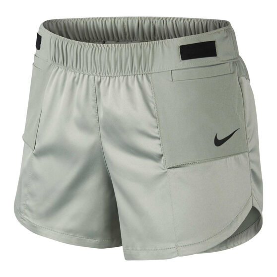 Nike Womens Tempo Lux Running Shorts, Green, rebel_hi-res