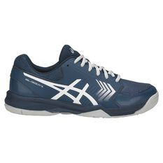 Asics Gel Dedicate 5 Hardcourt Mens Tennis Shoes Navy / White US 7, Navy / White, rebel_hi-res