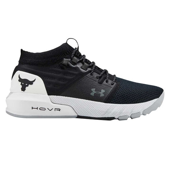 Under Armour Project Rock 2 Kids Training Shoes, Black / White, rebel_hi-res