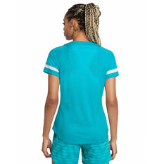 Nike Womens Dri-FIT Academy Short Sleeve Soccer Tee Blue XS, Blue, rebel_hi-res