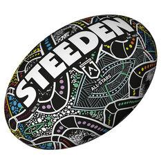 Steeden NRL Indigenous All Stars Supporter Rugby Ball, , rebel_hi-res