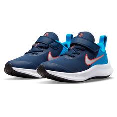 Nike Star Runner 3 Kids Running Shoes, Navy/White, rebel_hi-res