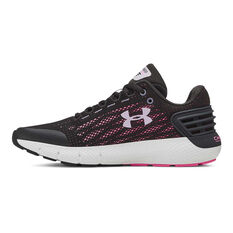 Under Armour Charged Rogue Kids Running Shoes, Black / White, rebel_hi-res