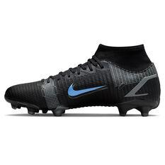 Nike Mercurial Superfly 8 Academy Football Boots Black/Grey US Mens 4 / Womens 5.5, Black/Grey, rebel_hi-res