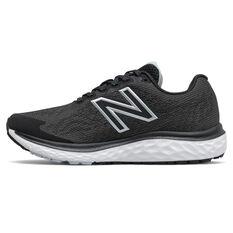 New Balance 680 v7 D Womens Running Shoes Black/White US 6, Black/White, rebel_hi-res