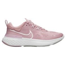 Nike React Miler 2 Womens Running Shoes Pink/White US 6, Pink/White, rebel_hi-res