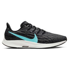 Nike Air Zoom Pegasus 36 Mens Running Shoes Black / Green US 7, Black / Green, rebel_hi-res