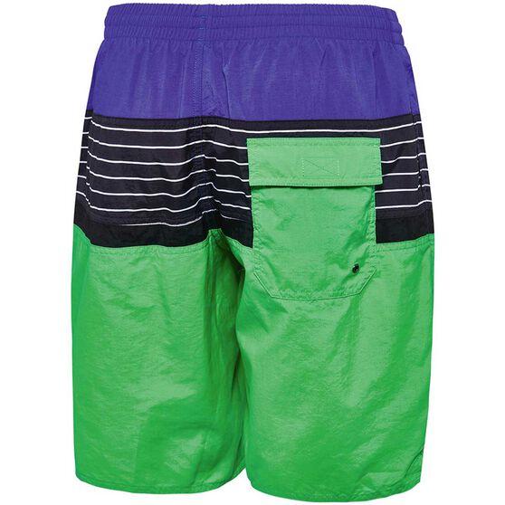 Speedo Mens Multi Split Watershorts Green M, Green, rebel_hi-res