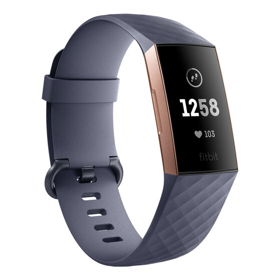 Fitbit Charge 3 Rose Gold Blue Grey, , rebel_hi-res
