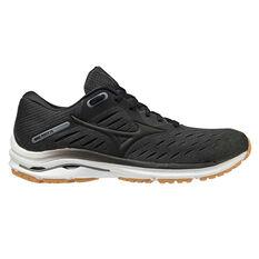 Mizuno Wave Rider 24 Womens Running Shoes Black/Gum US 6, Black/Gum, rebel_hi-res