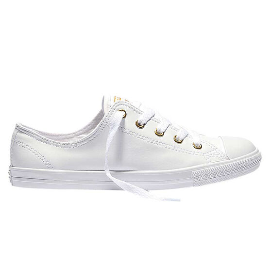 b4ca2555149d4a Converse Chuck Taylor All Star Dainty Womens Casual Shoes White   Gold US  7