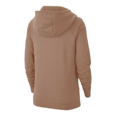 Nike Womens Sportswear Essentials Funnel Neck Fleece Hoodie Desert XS, Desert, rebel_hi-res