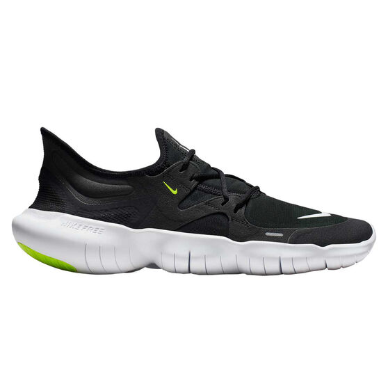 Nike Free RN 5.0 Mens Running Shoes, Black / White, rebel_hi-res
