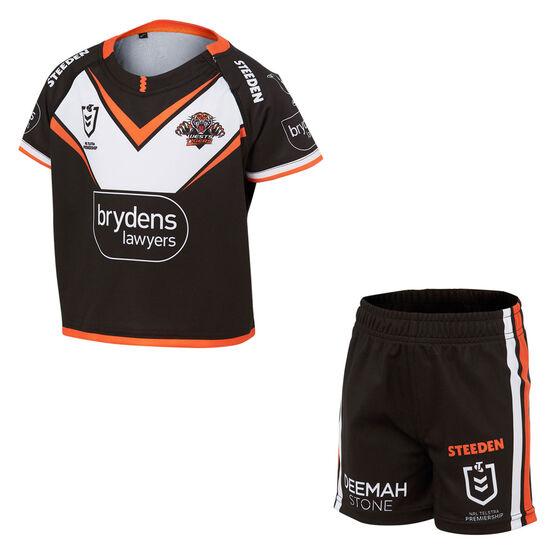 Wests Tigers 2021 Infants Home Kit, Black, rebel_hi-res