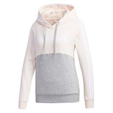 adidas Womens Essentials Colourblock Hoodie Pink XS, Pink, rebel_hi-res