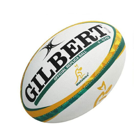 Gilbert Wallabies Replica Rugby Ball - 10 inch, , rebel_hi-res