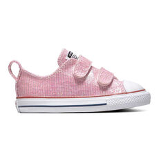 Converse Chuck Taylor All Star 2V Sparkle Toddlers Shoes Pink / White 4, Pink / White, rebel_hi-res