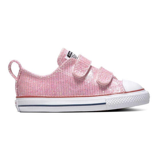 Converse Chuck Taylor All Star 2V Sparkle Toddlers Shoes, Pink / White, rebel_hi-res