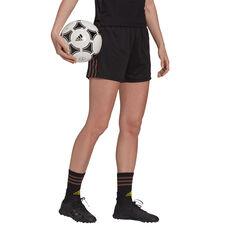 adidas Womens Tiro Pride Football Shorts Black XS, Black, rebel_hi-res