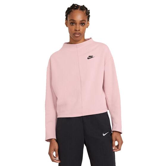 Nike Womens Sportswear Tech Fleece Crew Sweater Pink L, Pink, rebel_hi-res