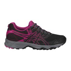 Asics GEL Sonoma 3 D Womens Trail Running Shoes Black / Grey US 6, Black / Grey, rebel_hi-res