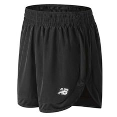 New Balance Womens Accelerate 5in Shorts Black XS Adult, Black, rebel_hi-res