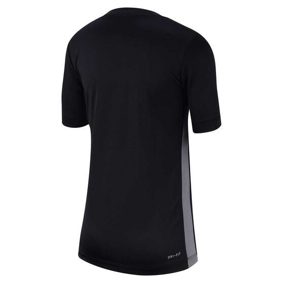 Nike Dri-FIT Boys Trophy Short Sleeve Training Top, Black / Grey, rebel_hi-res